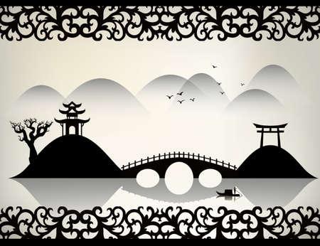 bridge in nature: China landscape