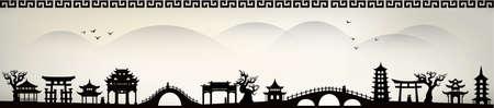 Ciudad de China Vectores