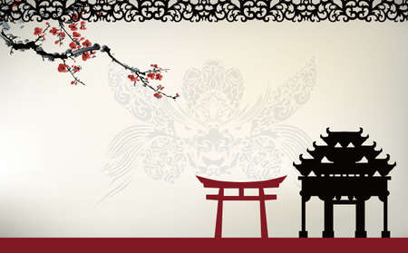 chinese pagoda: Asian theme