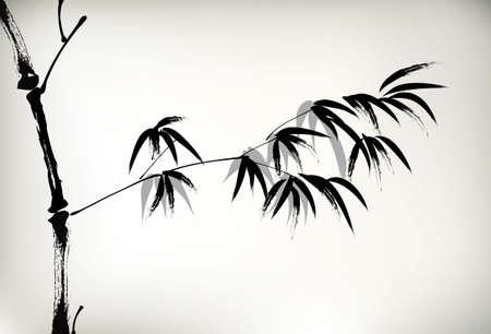 잉크 그린 대나무