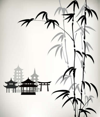 pavilion: ink painted bamboo