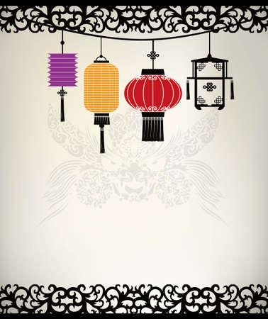 oriental dragon: Chinese Lantern