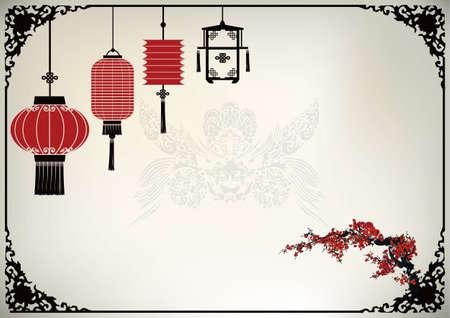 asian people: Chinese Lantern