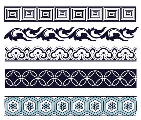 chinese border: Old lace pattern