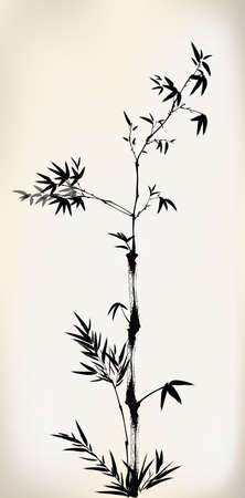 bamboo leaves: ink painted bamboo