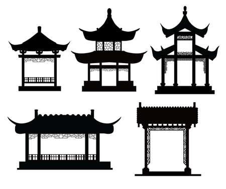 中国の伝統的なパビリオン