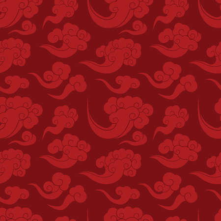 cloud background: seamless Chinese lucky cloud background Illustration