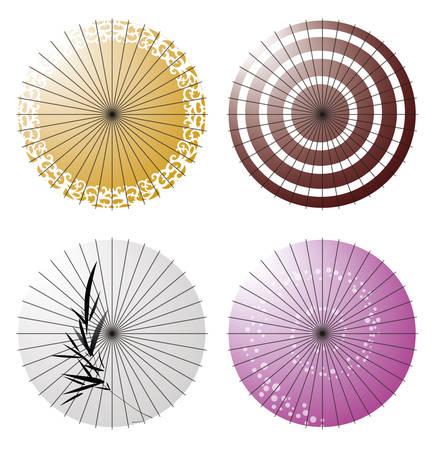 Parapluie japonais Banque d'images - 45359397