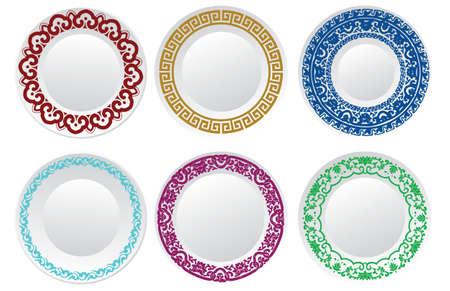 cerámicas: Plato de porcelana china Vectores