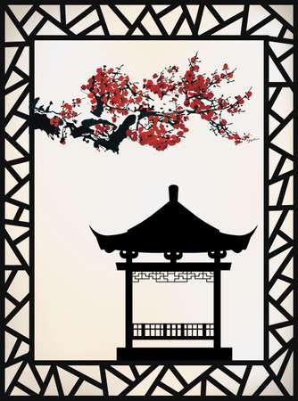 pagoda: ancient pagoda Illustration