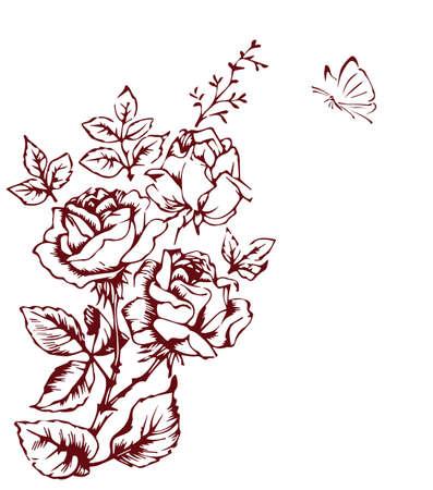 tattoos: rose sketch