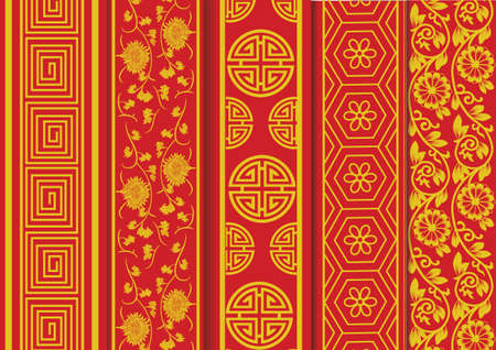 vintage pattern: Chinese new year pattern