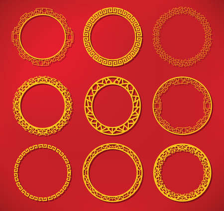 circle flower: chinese frame