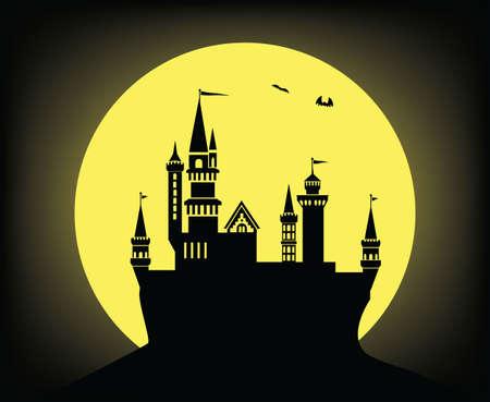 night: castle in the night Illustration
