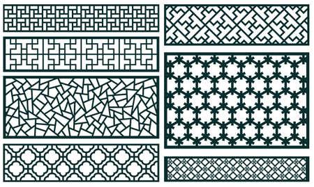 装飾パターン コレクション  イラスト・ベクター素材