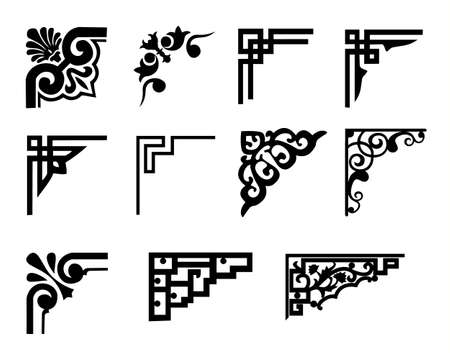 vector frame corners  イラスト・ベクター素材