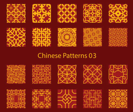 vector Chinese traditional pattern collection