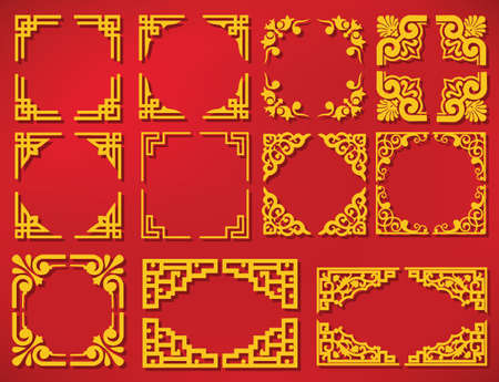vector china new year frame Banco de Imagens - 49824373