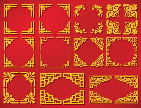 vector china new year frame