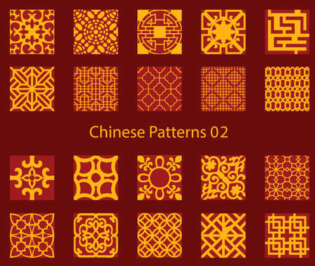 year curve: vector Chinese traditional pattern collection