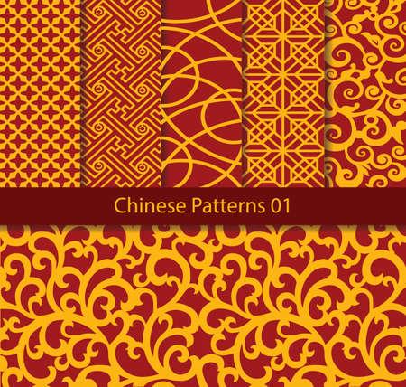 Vector pattern: vector bộ sưu tập mô hình truyền thống của Trung Quốc