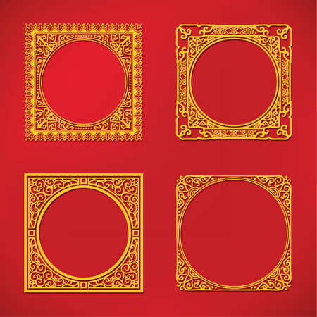 Chinese new year pattern frame Illustration