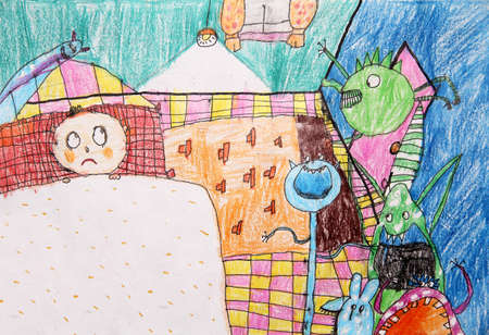 fearful: kids drawing - nightmare