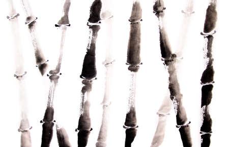 Bambus Tuschemalerei Standard-Bild - 55068321