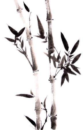 bambu: pintura de la tinta de bambú
