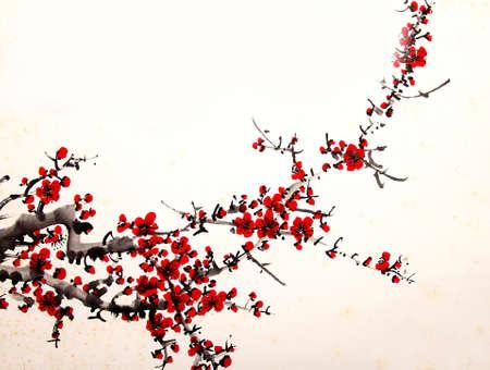 flor de sakura: pintura de la cereza