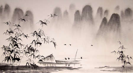 ink: Chinese landscape ink painting