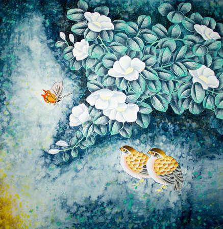 Chinees traditioneel schilderij van vogels