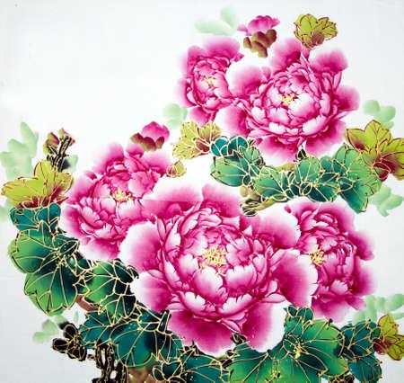 꽃의 중국 전통 그림
