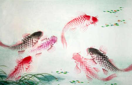Chinees schilderij van karper