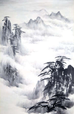 Chinese mountain paintings