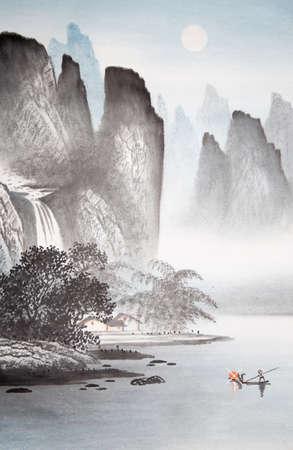 Paintings of natural scenery Banco de Imagens