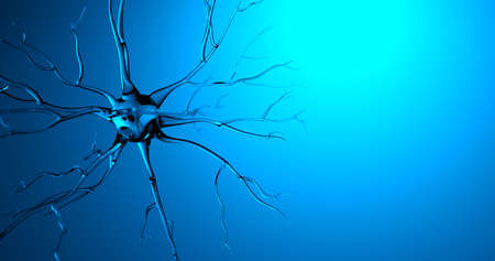 3D rendering transparent nerve moving made in CG Stockfoto