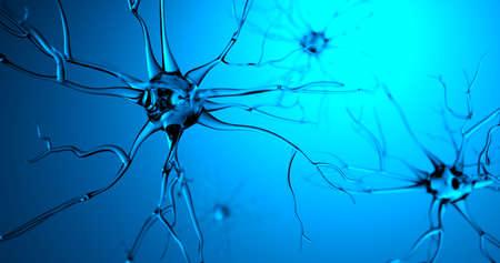 3D rendering transparent nerve moving made in CG Foto de archivo