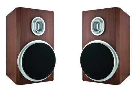 surround system: Image of high quality loudspeaker Stock Photo