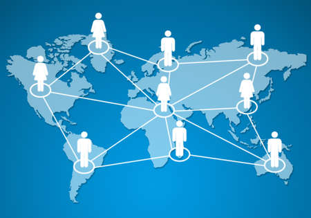 human models connected together in a social network.