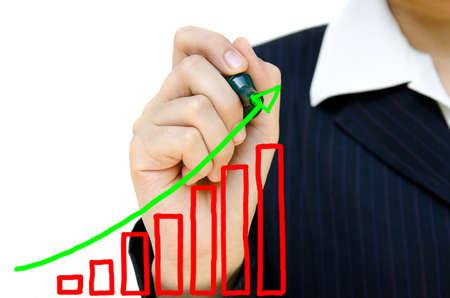 safe investments: Disegno grafico che mostra la mano giovane impresa.