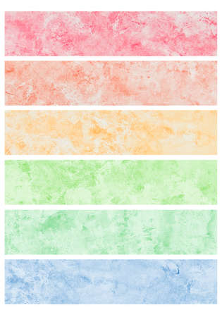 Colorful watercolor brush strokes for background. Stock Photo - 11006178