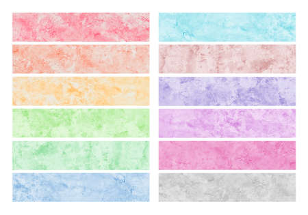 Colorful watercolor brush strokes for background.