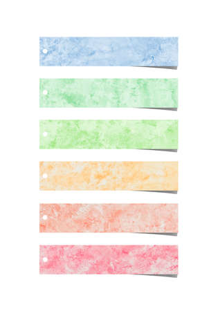 Colorful watercolor brush strokes for background. Stock Photo - 11006123