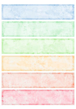 Colorful watercolor brush strokes for background. Stock Photo - 11006173