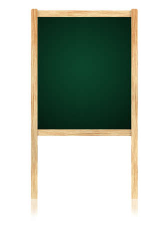 Empty Greenboard with wooden frame isolate on white background. Stock Photo - 11006111