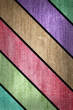 Grunge multicolored stripes jean background. photo