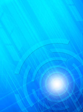 Abstract technology blue and arrow background. photo