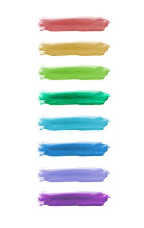 Colorful watercolor brush strokes. Stock Photo - 11006039