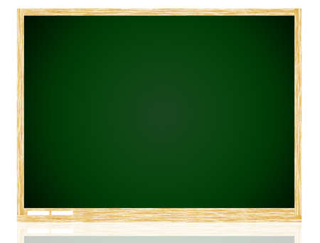 Empty Green board with wooden frame isolate on white background. Stock Photo - 11109614